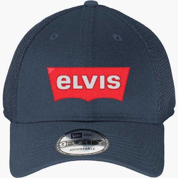 36c7b04d ELVIS - Levis Style Logo New Era Baseball Mesh Cap - Embroidery +more