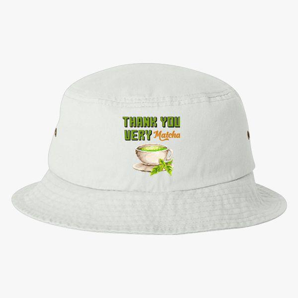 thank you very matcha food pun Bucket Hat ... df8c1b0ecb1