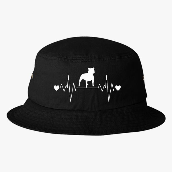 54972c1f45e Staffy Bull Heartbeat Bucket Hat - Embroidery +more