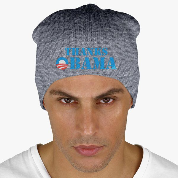 Thanks Obama Knit Beanie - Embroidery +more e55d4a424bf3