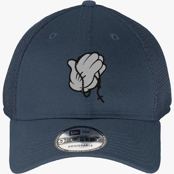 31c3cae6f90d8 Cartoon Pray Hands New Era Baseball Mesh Cap - Embroidery +more