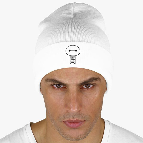 dbb001763b5 Big Hero Six Baymax face Knit Cap - Embroidery +more