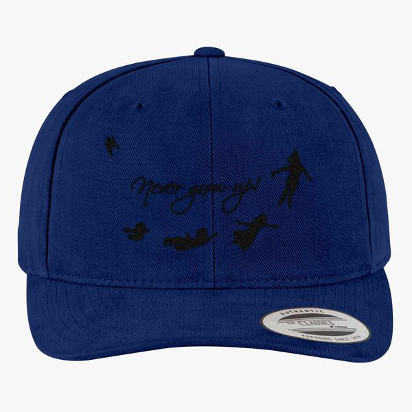 Never Grow Up Peter Pan Brushed Cotton Twill Hat - Embroidery +more 8b4836535440