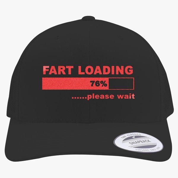 0db70c19 Fart Loading Funny Retro Trucker Hat (Embroidered) | Hatsline.com