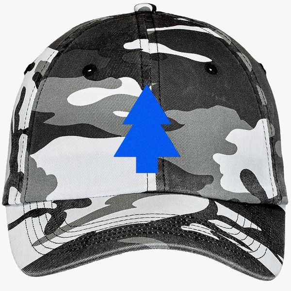 f4ba613a260 Dipper Pines Tree Gravity Falls Camouflage Cotton Twill Cap - Embroidery + more