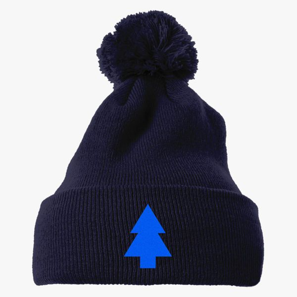000777afe41 Dipper Pines Tree Gravity Falls Knit Pom Cap - Embroidery +more