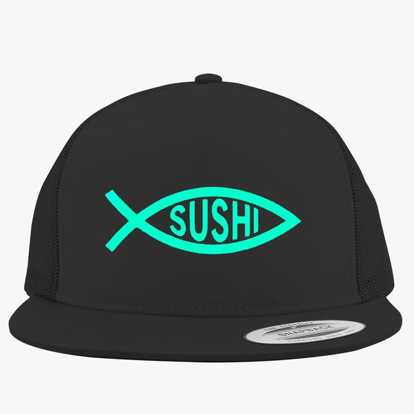 97ee38e796d3d Sushi Fish Trucker Hat - Embroidery +more