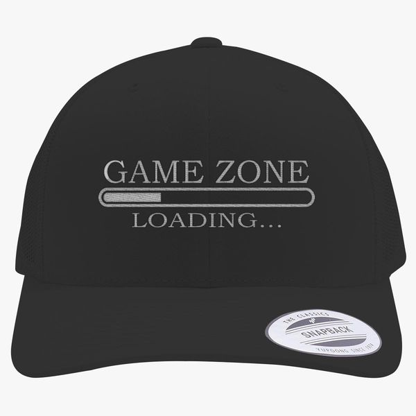 8cfffc32 Game Zone - Loading Gaming Retro Trucker Hat - Embroidery +more