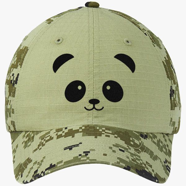 942190cc7 Panda Bear Shirt Tee Animal Lover Colorblock Camouflage Cotton Twill Cap -  Embroidery +more