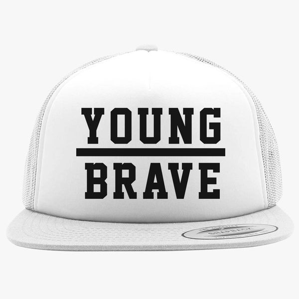 1d1e91e8a21 YOUNG BRAVE - BLACK Foam Trucker Hat +more