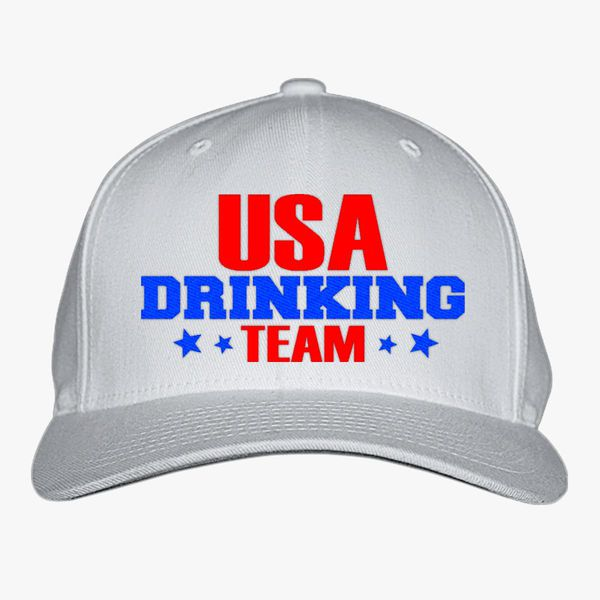 513dcf16888 Usa Drinking Team Baseball Cap (Embroidered)